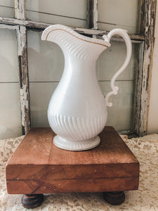 Vintage White Pitcher