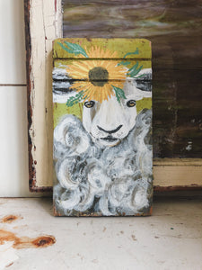 Farm Animal Painting - Sunflower Sheep