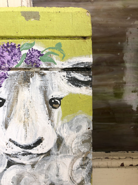 Farm Animal Painting - Wisteria Sheep