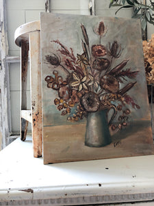 Vintage Painting - Fall Florals