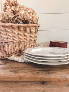 Vintage Ironstone Plates (Set of 4)