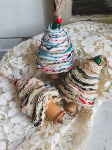 Vintage Patchwork Christmas Tree Ornament