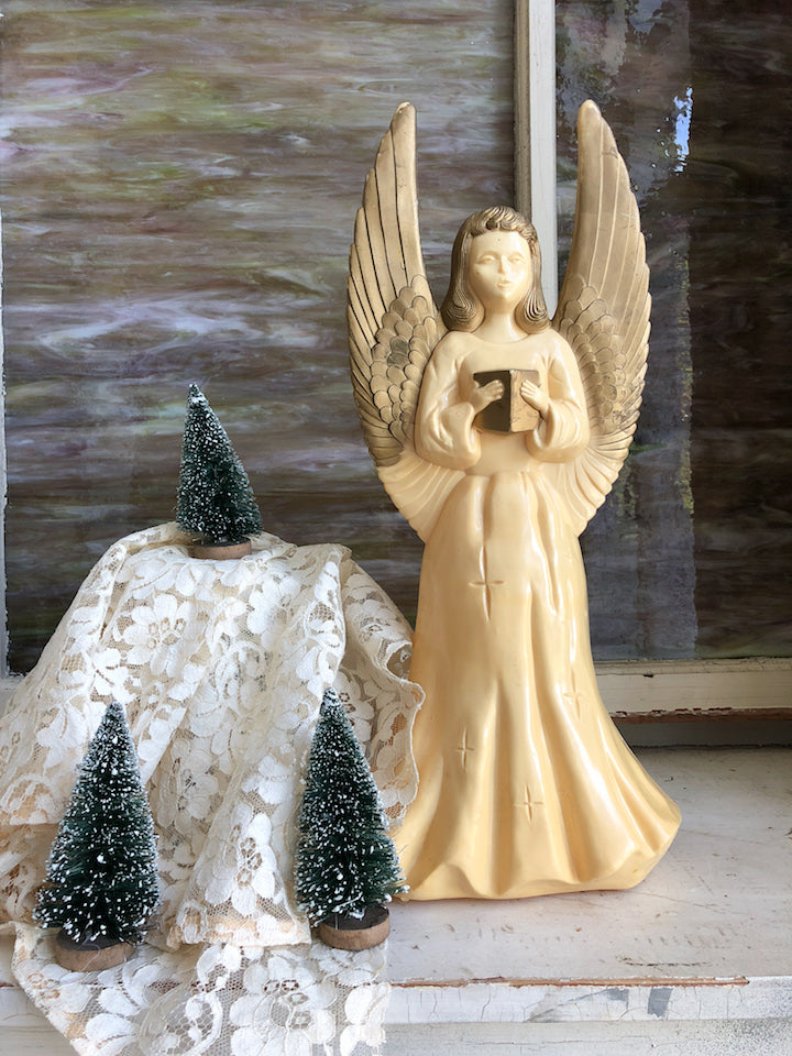 Vintage Plastic Light Up Angel