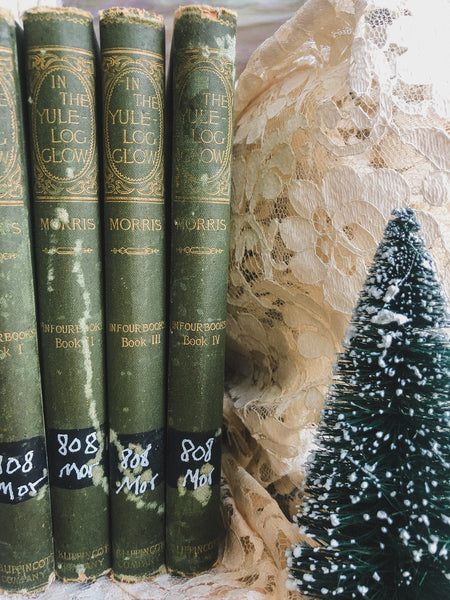 Vintage Christmas Book Set (Late 1800's)