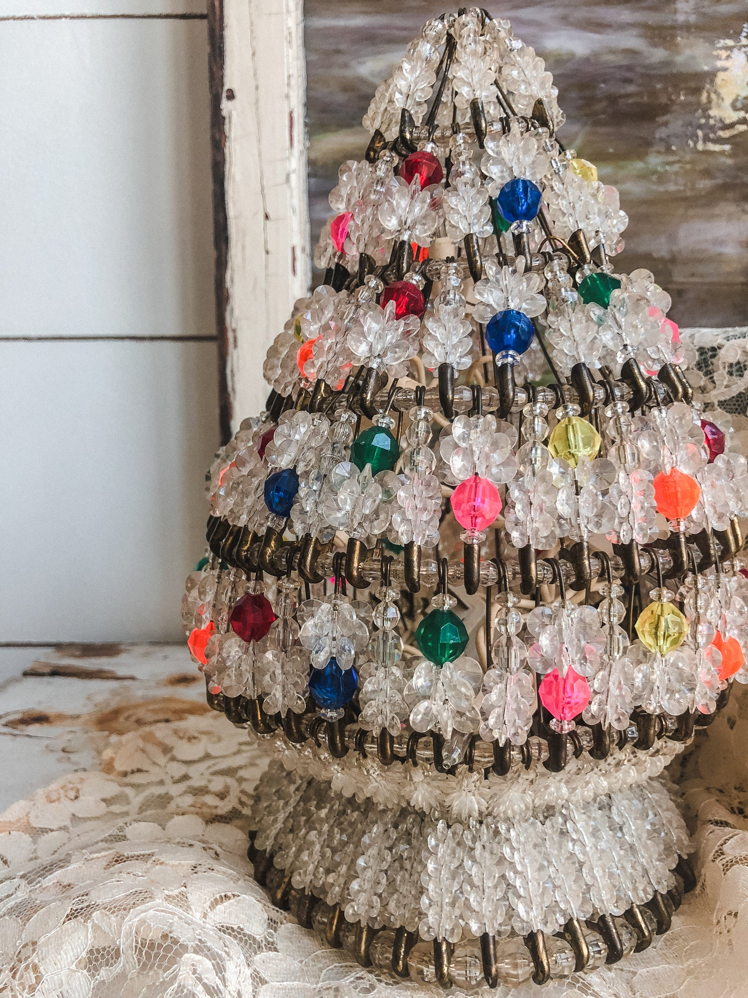 Vintage Safety Pin Christmas Tree