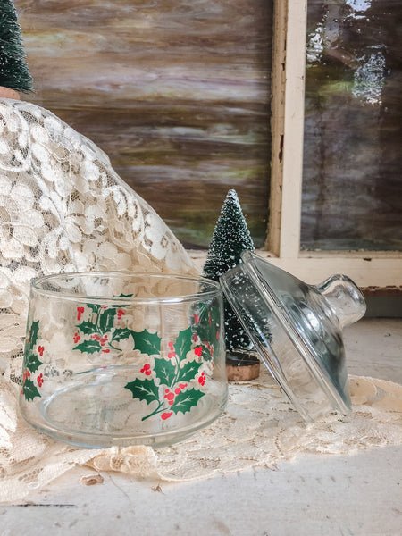 Vintage Holiday Candy Dish