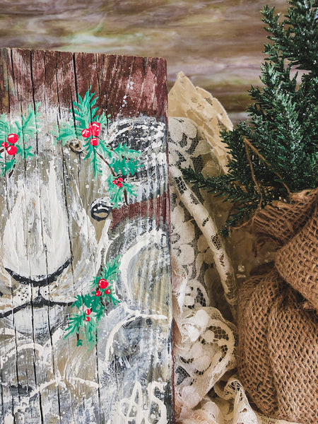 Farm Animal Painting - Holiday Berry Sheep