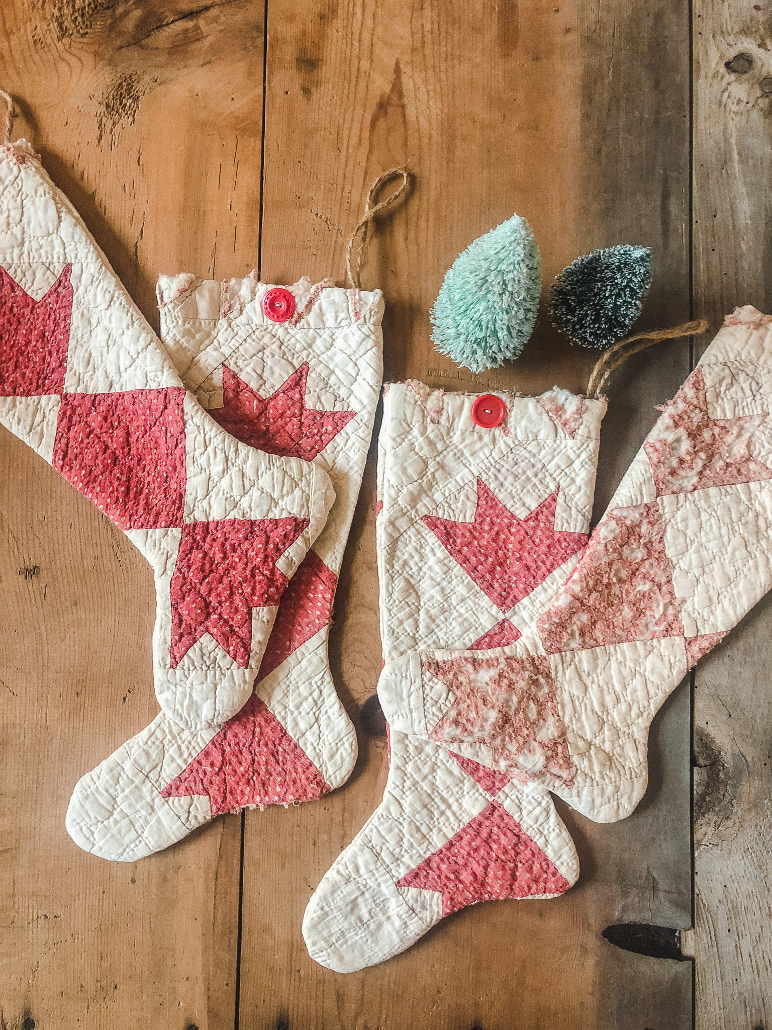 Vintage Quilted Stocking