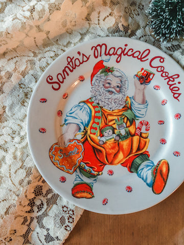 Tacky Santa Cookie Plate