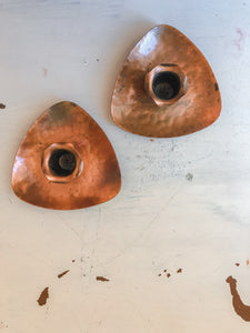 Copper Colored Candle Holders - Set of 2