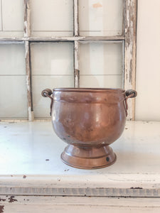 Vintage Copper Colored Planter