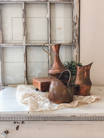 Vintage Copper Color Pitcher
