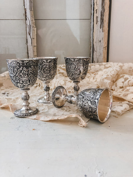 Vintage Miniature Goblets (Set of 4)