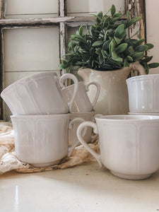 Ironstone Mugs (Set of 6)
