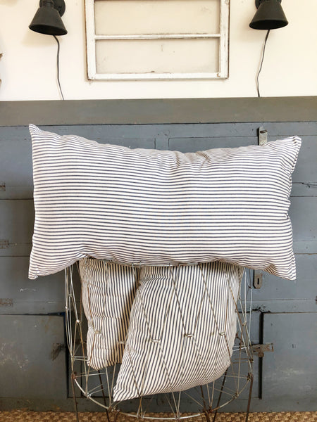 Large Ticking Stripe Pillow