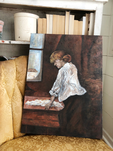 Vintage Painting on Canvas