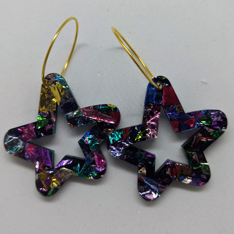 Tinsel Star Hoops