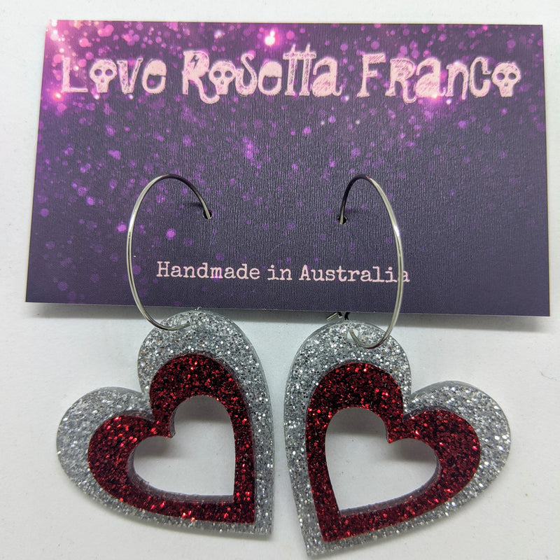 Hollow Heart Hoops