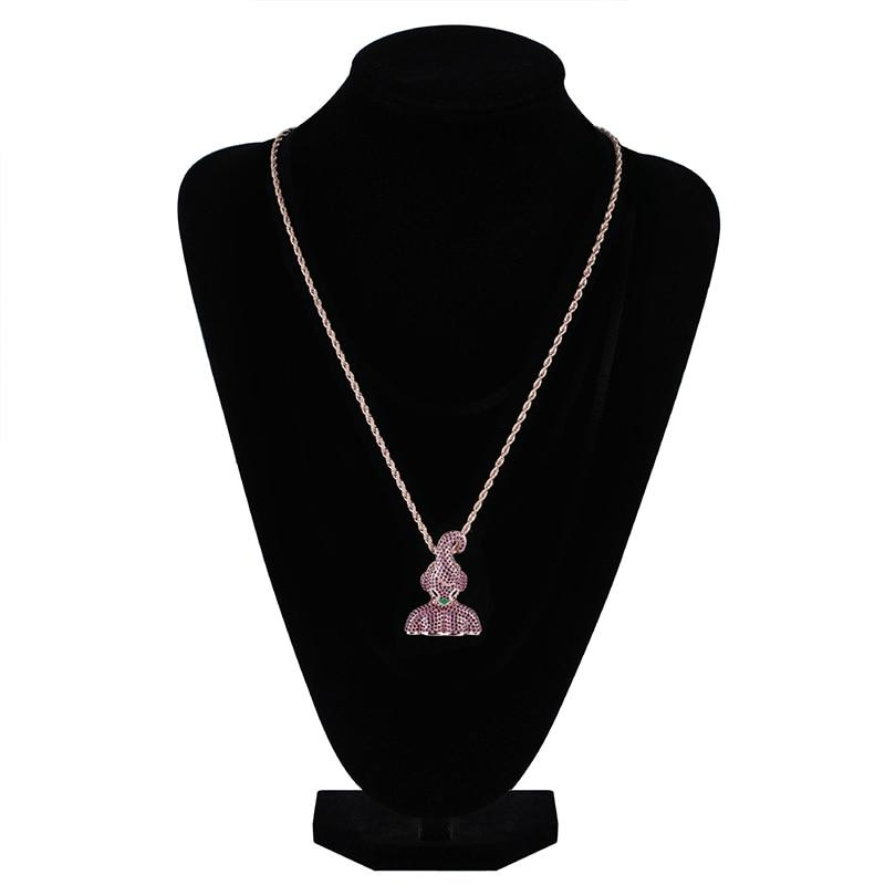 5801f21b0886dc 14K Gold Rose Iced Out Cubic Zirconia Kid Buu Pendant – vcropposhop