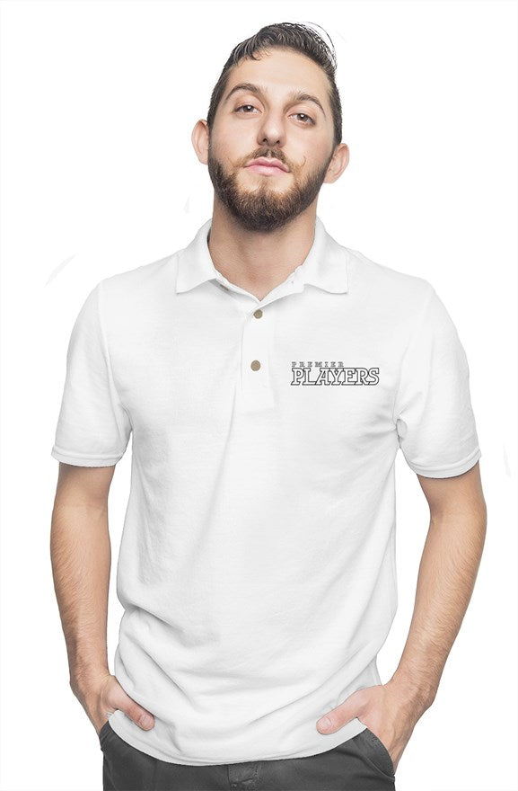 Premier Players embroidered logo polo in White