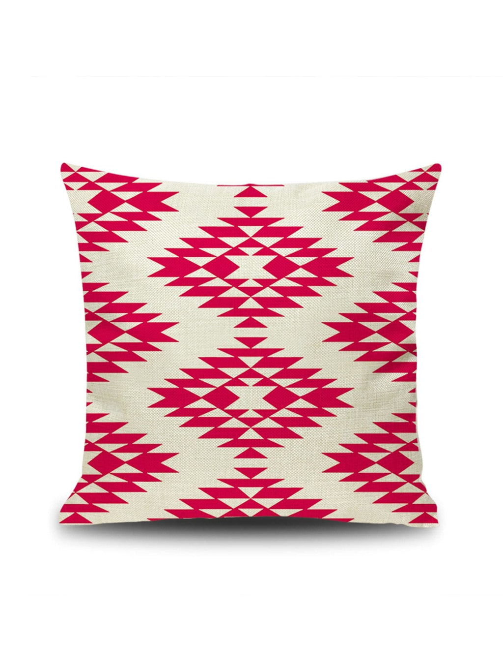 Hot Pink Geometric Cushion Cover