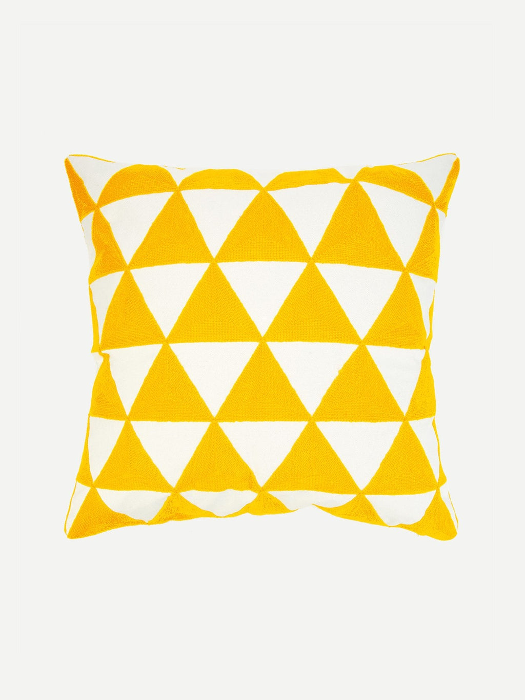 Geometric Yellow Embroidery Pillowcase