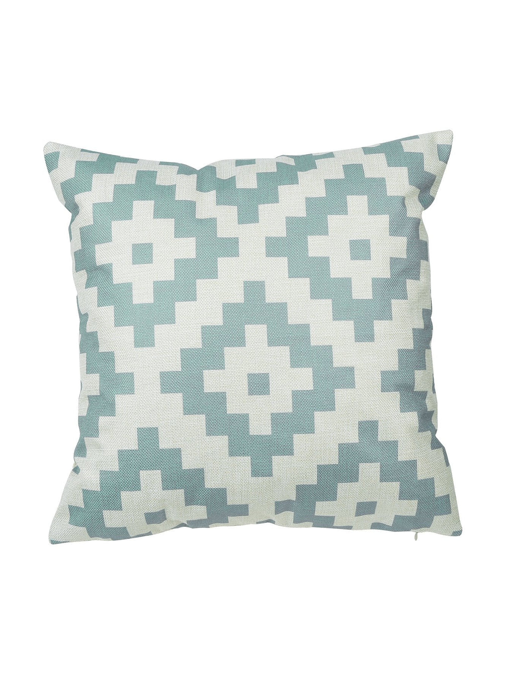 Blue Geometric Print Cushion Cover
