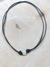 Leather Cord Freshwater Pearl Chokers
