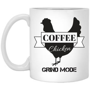 White Mug Grind Mode 11oz.