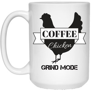 White Mug Grind Mode 15oz.