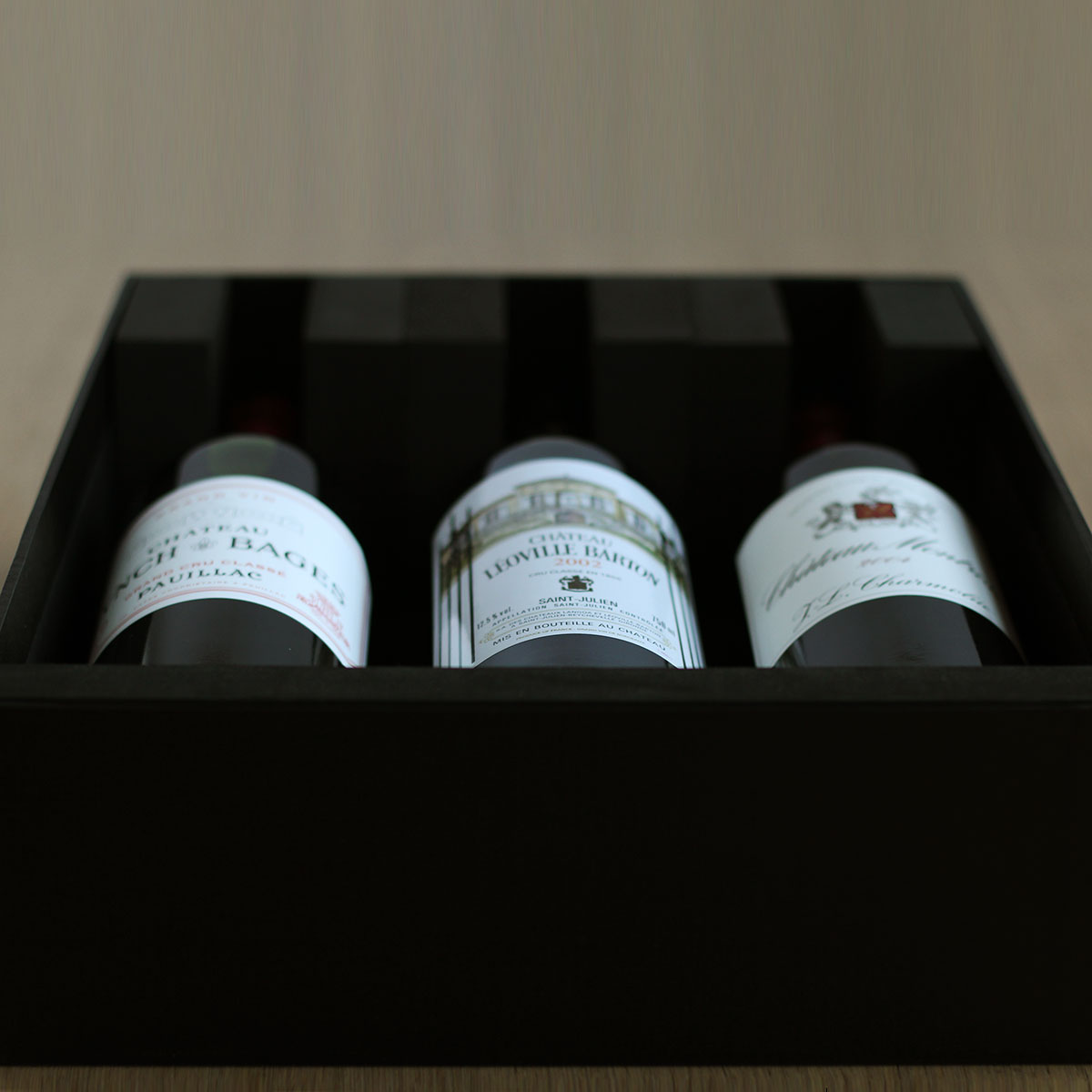 Black Wine Gift Box Carry Up To 3 Bottles