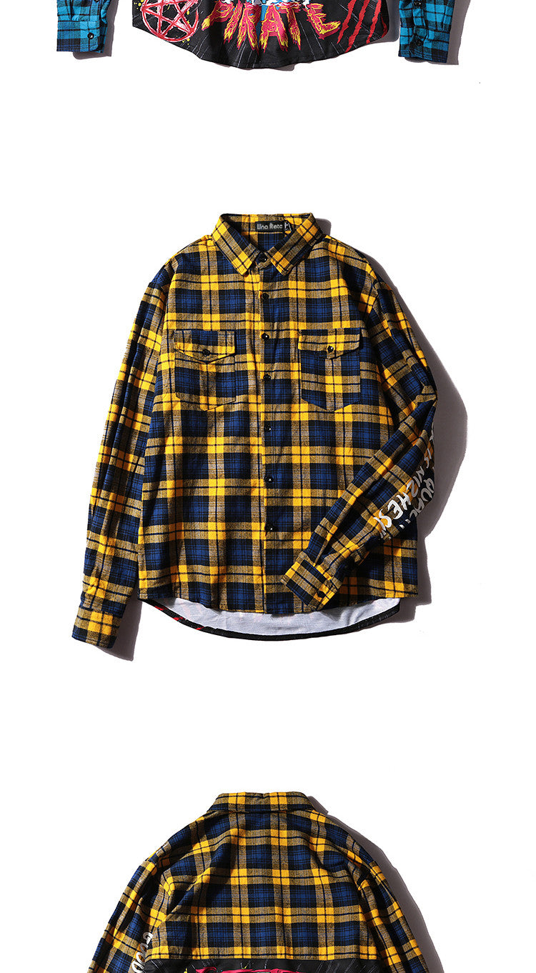 Oversize Plaid Casual Shirt