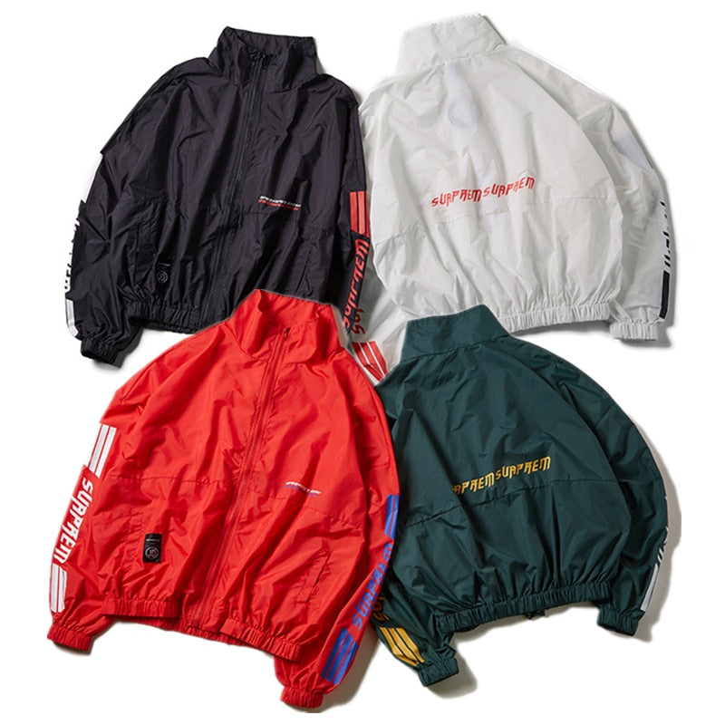 YouthCodes Striped Windbreaker