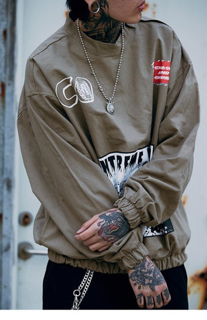 Mens Hip Hop Baggy Jacket Pullover