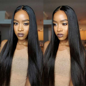 Lace Front Human Hair Wigs For Black Women Remy Brazilian Straight Lace Wig Pre Plucked With Baby Hair