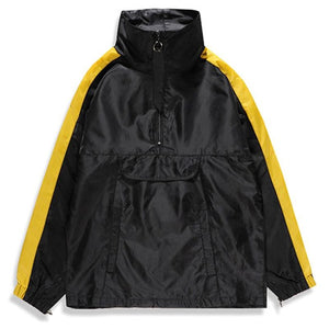 Huation Special Deisgns Retro Striped Tracksuit Pullover Windbreaker Jacket