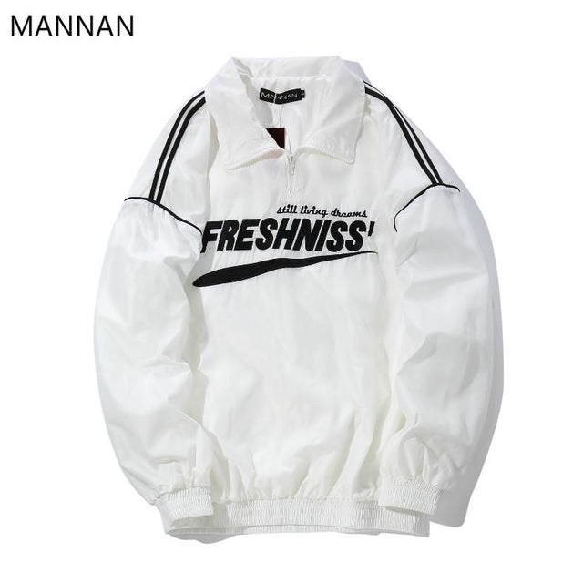 MANNAN Winter Jacket Half Zip Windbreaker Harajuku