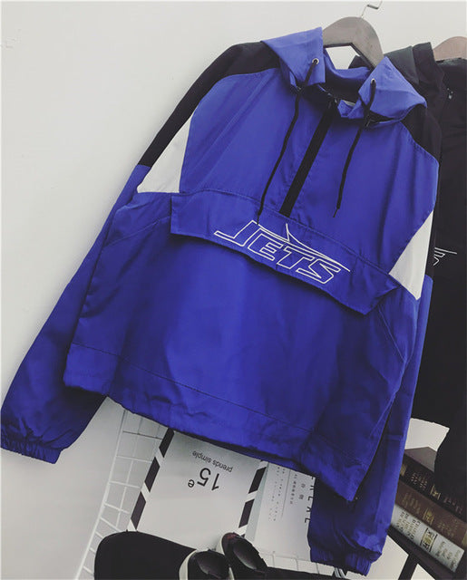 Windbreaker bright pullover