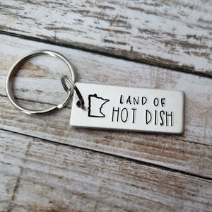 Land of Hot Dish Minnesota Keychain