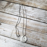 Minnesota Uffda Round Hand Stamped Necklace