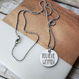 Believe Women Round Necklace