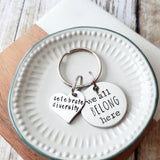 We All Belong Here - Celebrate Diversity Keychain