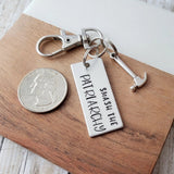 Smash The Patriarchy Keychain with Hammer Charm