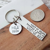 Keychain for Teacher - What We Learn Becomes A Part