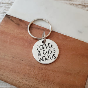 Coffee and Cuss Words Keychain