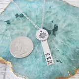 Zen as Fuck Lotus Flower Hand Stamped Necklace