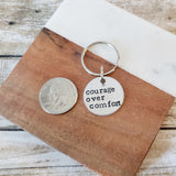 Courage Over Comfort Keychain