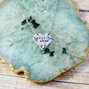 Shit Show Heart Necklace