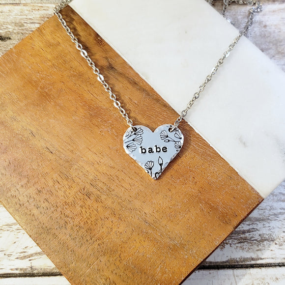 Babe Heart Necklace