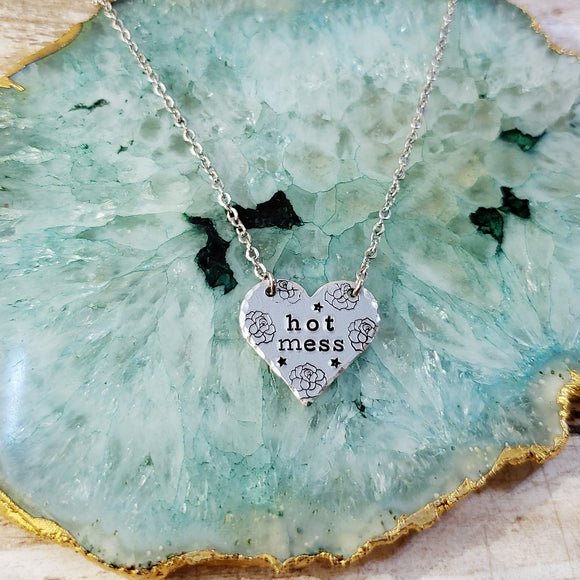 Hot Mess Heart Necklace